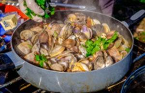 Yummy shellfish provided by Taylor Shellfish at a restoration event.